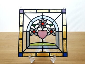 ●ご予約分● ステンドグラス ミニパネル フラワー 15cmの画像