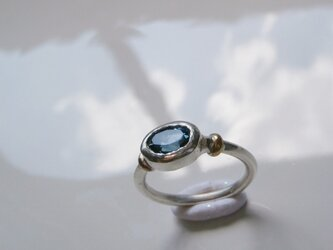 ロンドンブルートパーズのリングの画像