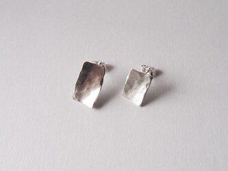 純銀(pure silver)ピアス 一点ものの画像