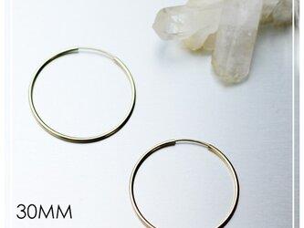 送料無料 - 30mm 14kgf Hoop Earrings - 14k ゴールドフィルド フープピアスの画像