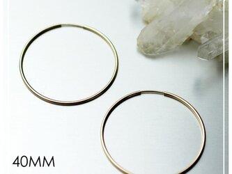 送料無料 - 40mm 14kgf Hoop Earrings - 14k ゴールドフィルド フープピアスの画像