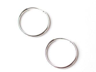 送料無料-20mm Sterling Silver Hoop Earrings- スターリング シルバー 925 フープピアスの画像