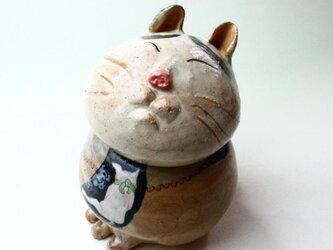 猫八の陶箱 / 陶器 / 陶筥/ 猫 /陶芸家 / cute ceramic boxの画像