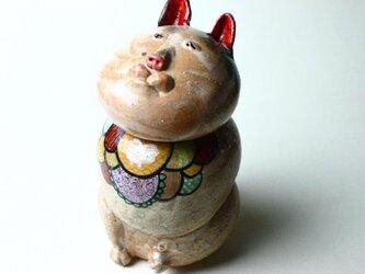 日本猫の陶箱 / 陶器 / 陶筥/ 猫 /陶芸家 / cute ceramic boxの画像