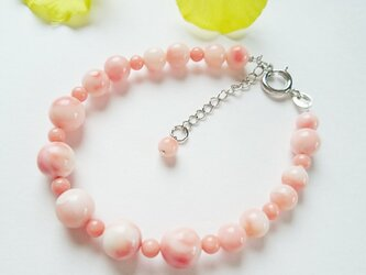 ベビーピンク珊瑚ブレスレットの画像