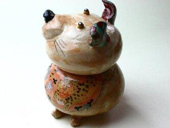 犬の陶箱 / 陶器 / 陶筥/ 犬とヒョウ / 陶芸家 / cute ceramic boxの画像