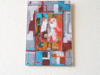 ぴよちゃんの窓(抽象画)アクリル板つきの画像
