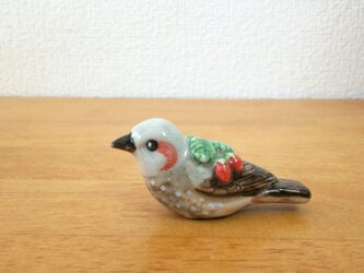 花小鳥/小(陶)ヒヨドリ&苺の画像