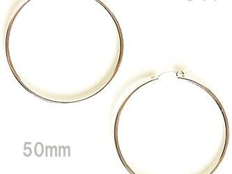 送料無料 50mm Tube Hoop Earrings-Sterling Silver Filled- シルバー フープピアスの画像