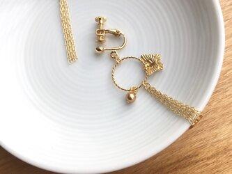 gold earring/pierce【butterfly】の画像