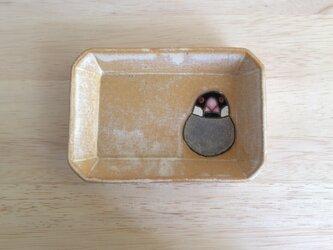 文鳥の角皿Aの画像