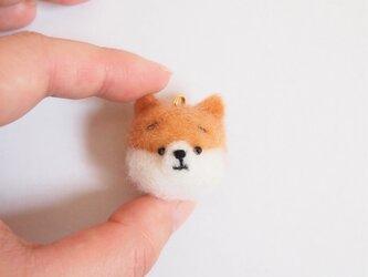 まゆポメラニアン 携帯クリーナーストラップ 羊毛フェルト(アクレーヌ製)※受注製作の画像