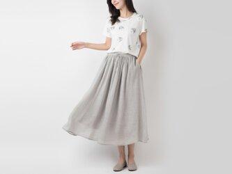 ラミー 手染め軽やかロングスカート ♪Lightgrey♪の画像