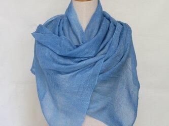 ストール 木藍染めの画像