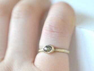 ナチュラルダイヤモンド(ローズカットダイヤモンド)k10ゴールドリングの画像