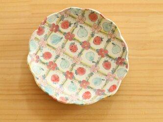 粉引かわいいもの皿。の画像