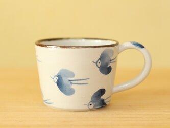 幸せの青い鳥カップ。の画像