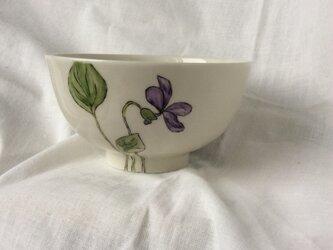 『北欧風 パンジー』のお茶碗の画像