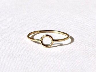 Circle motif ring  / K18 YGの画像
