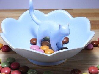 Cat Loverのためのジュエリーディッシュ・アイスブルー12の画像