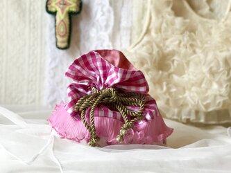 クラゲフリルポーチ-ピンクピンク-の画像