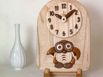 時計 フクロウ(梟)の画像