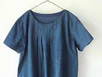 ビルマ木綿のタックワンピースの画像