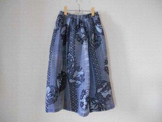 絹紅梅浴衣地のスカートの画像