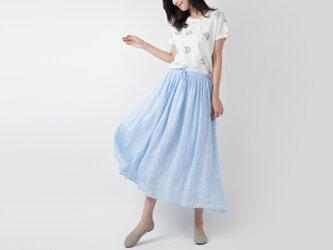 ラミー 手染め軽やかロングスカート ♪Lightblue♪の画像