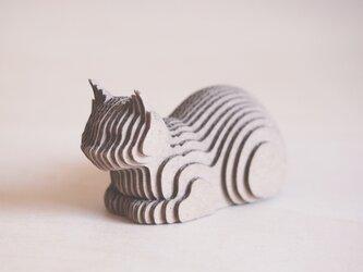 【工作キット】段々猫-catloaf 香箱の画像
