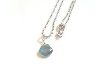 ディープブルーカイヤナイトネックレス Silver925の画像