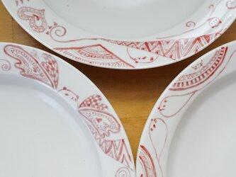 赤パンダリム皿の画像