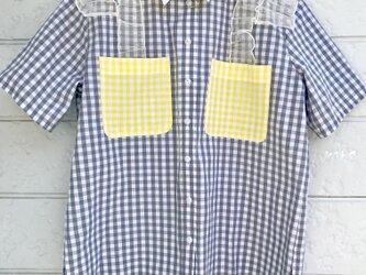 クラゲフリルシャツ-グレー×れもん-の画像