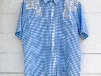 クラゲフリルシャツ-ブルー-の画像