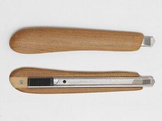 右利き用木製カッターナイフ(チーク)の画像