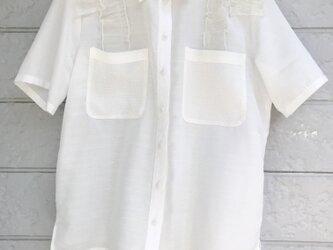 クラゲフリルシャツ-ピュアホワイト②-の画像