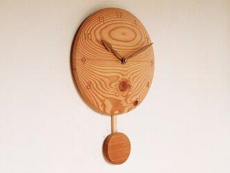 木製 振り子時計 松材2の画像