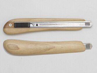 左利き用木製カッターナイフ(メープル)の画像