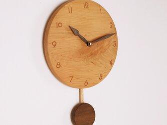 木製 振り子時計 桜材5の画像