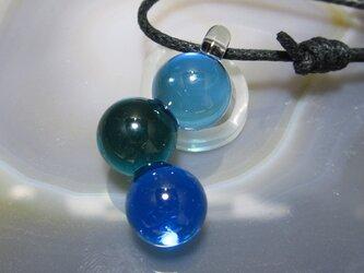 ガラスのペンダント・連結球その2の画像