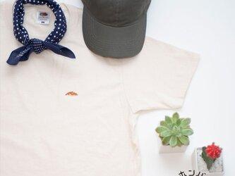 Tシャツ【ネチュラル】;クロワッサン刺繍付きの画像