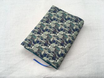 文庫本カバー 愛書家の書庫 ブルーの画像