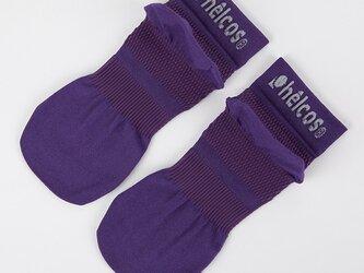 癒本舗の ヒルコス 男女兼用 靴下 抗菌防臭 ショートソックス バイオレット 24~26cmの画像