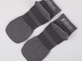 癒本舗の ヒルコス 男女兼用 靴下 抗菌防臭 ショートソックス ダークグレー 24~26cmの画像