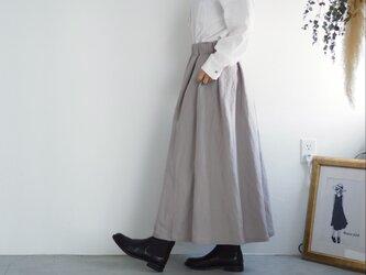 リネンレーヨンのスカート グレージュ  No.59の画像