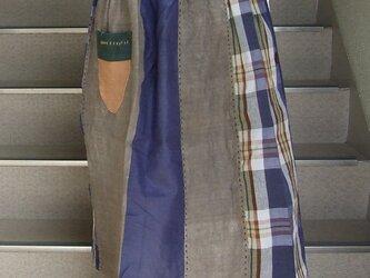 グレーが美しい!チェックのスカート ●79センチ丈● 裏なしの画像