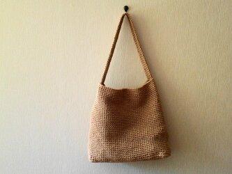 麻のシカク・バッグの画像