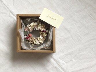 紫陽花の小さなリース【置き型】の画像