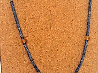アンティークラピス(ナチュラル)・ネックレス・琥珀♪の画像