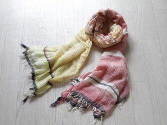 roots shawl BIG cotton100の画像